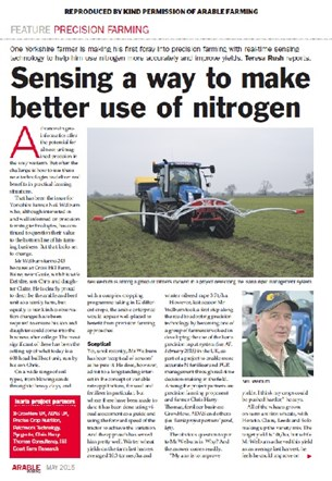 Arable Farming; Precision Nitrogen Application