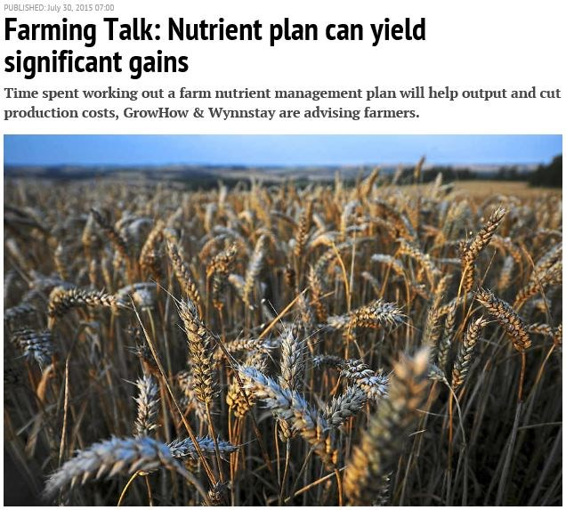 Shropshire Star advocates the use of nutrient plans