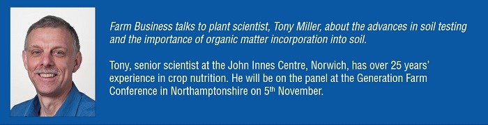 Tony Miller- increase organic matter for optimum soil health