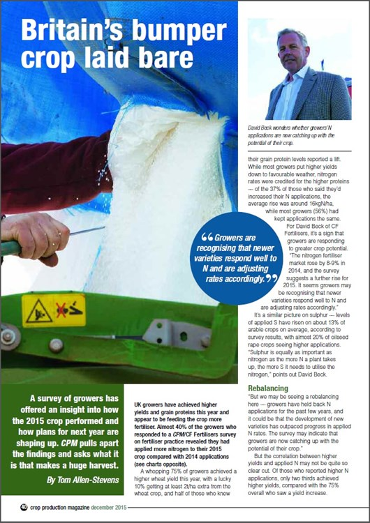 CPM Magazine Fertiliser Survey