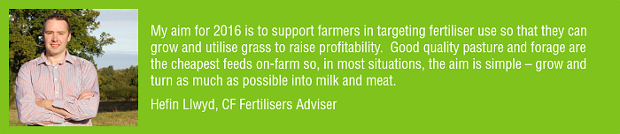 Hefin Llwyd New Year Aim to support farmers through knowledgeable fertiliser use